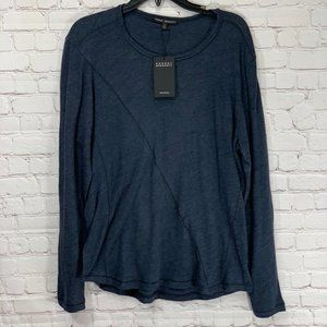 Robert Barakett Navy Meadowbrook Crew Long Sleeve